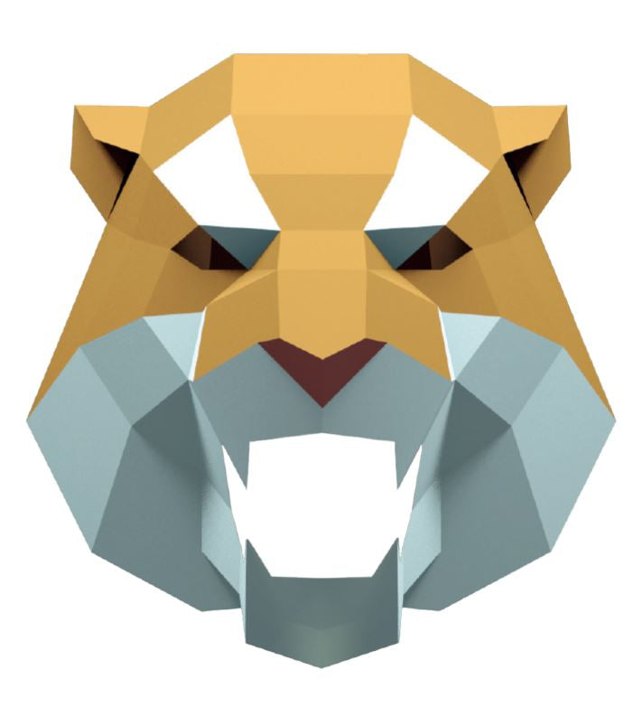 Tiger Mask template - 3D (free)