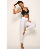 legging anti cellulite, push up, blanc