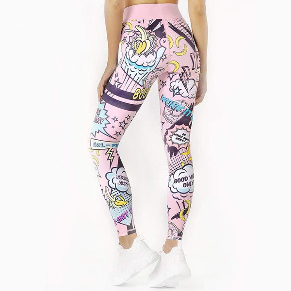 Ensemble legging et brassière sport cartoon - passionduleggings