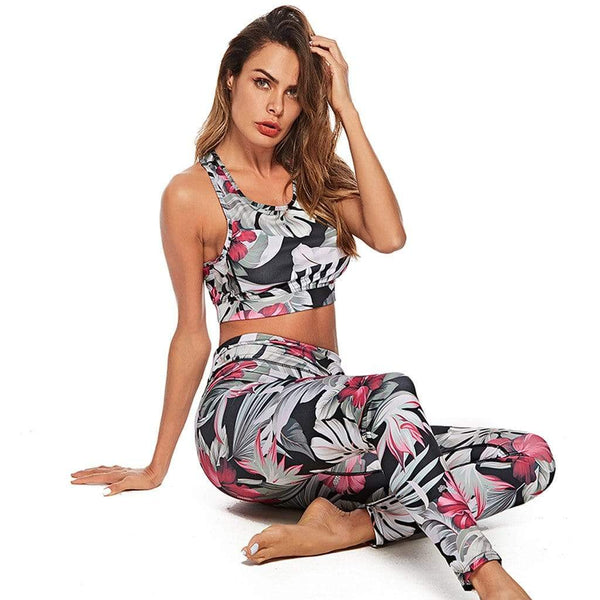 Ensemble sport floral - passionduleggings