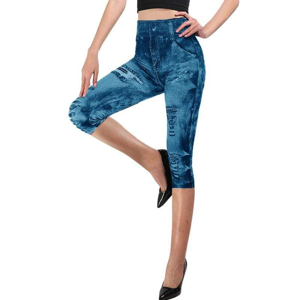 Jegging 3/4, taille haute