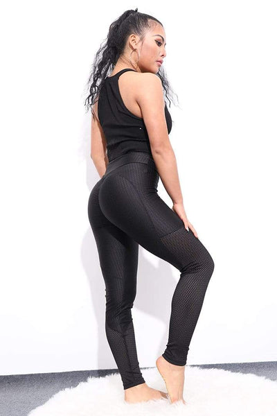 Legging Black'Oks Push Up avec transparence - passionduleggings