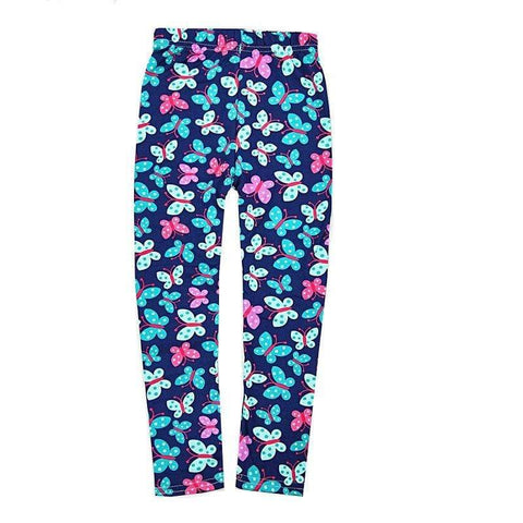 Legging bleu marine papillon - passionduleggings