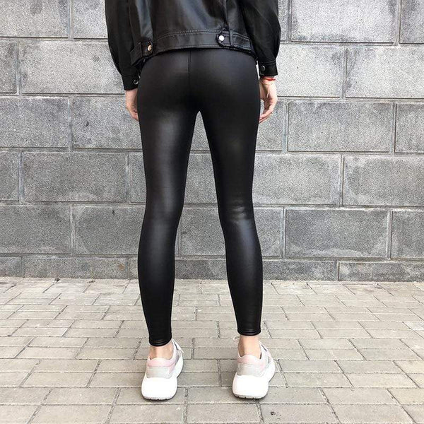 Legging cuir velours - passionduleggings