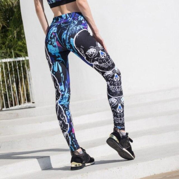 Legging destroy tête de mort - passionduleggings