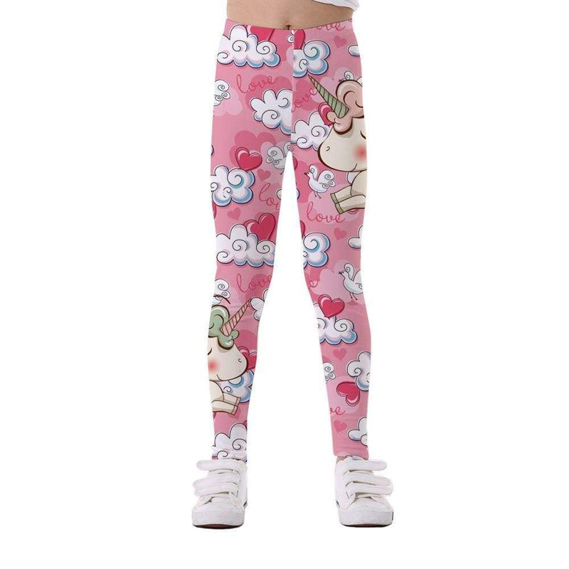 Legging fille licorne et nuage - passionduleggings