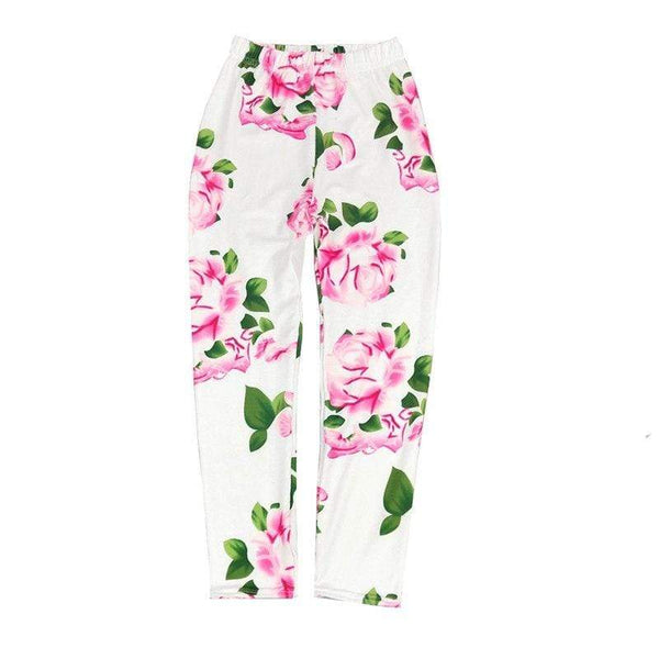Legging fleuri blanc et rose - passionduleggings