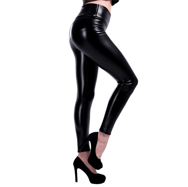 Legging simili cuir, intérieur velours - passionduleggings