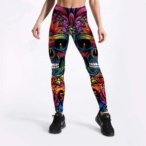Legging Skull impression 3D - passionduleggings