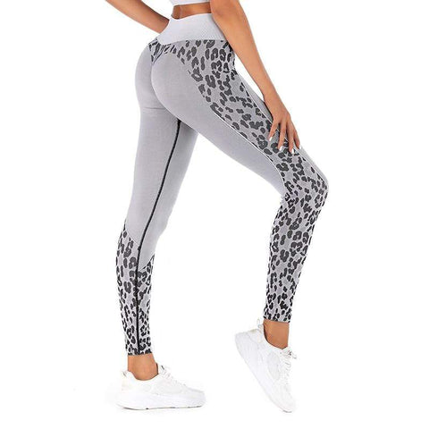 Legging Sport sans couture, léopard - passionduleggings