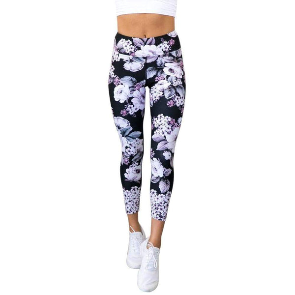 Legging Yoga floral - passionduleggings
