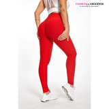 legging anti cellulite et push up pour femme rouge