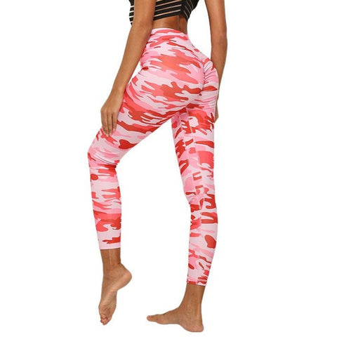 Legging Camouflage Push Up, rose