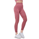 Legging compression sport bordeaux