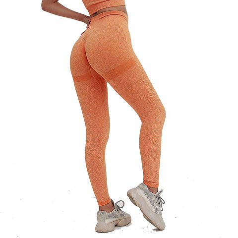 legging effet push up, orange