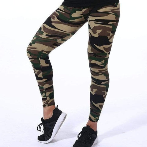 Leggings camouflage militaire noir - passionduleggings