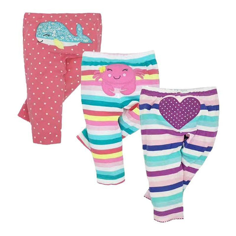 Lot de 3 leggings fille 6 à 24 mois - passionduleggings