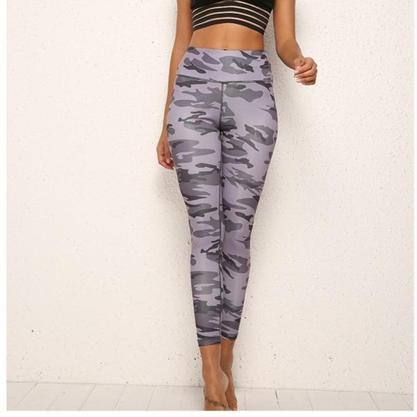 Legging Camouflage Push Up, gris