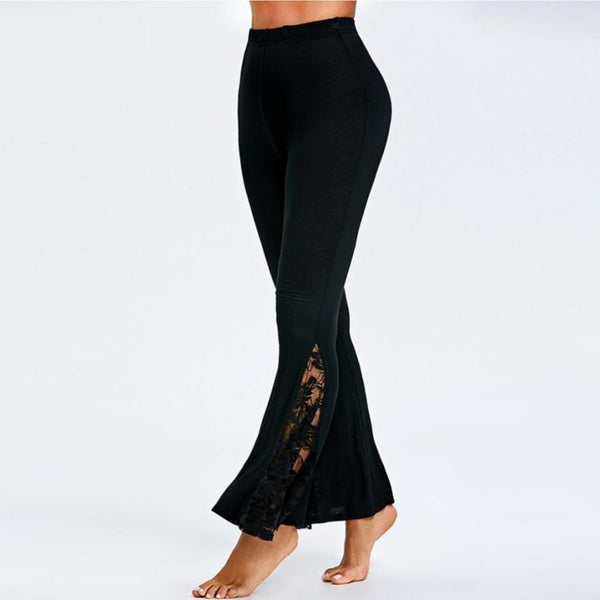 Pantalon Yoga large, noir, yoga pilates