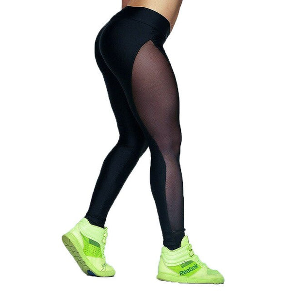 Legging transparent jambe