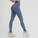legging effet push up, bleu