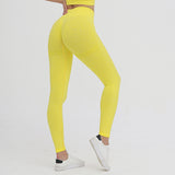 legging effet push up, jaune