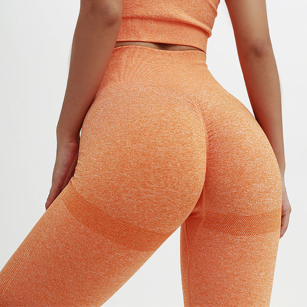 effet push up pour fessier galbé, legging orange