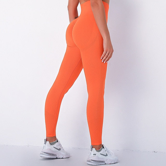 legging push up orange, sport, femme