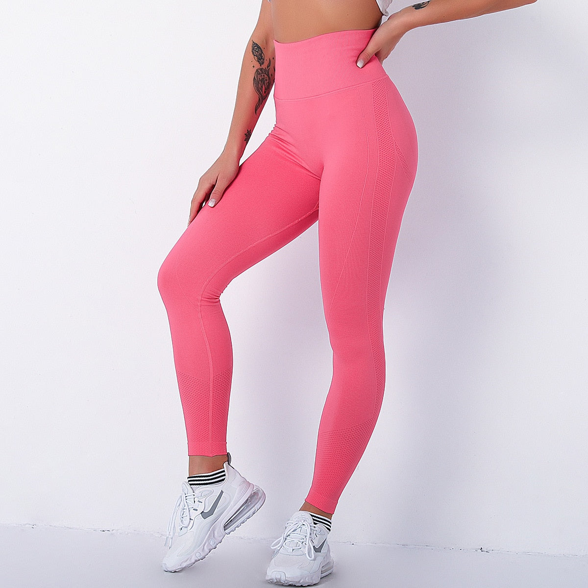 legging de sport push up, rose, sport