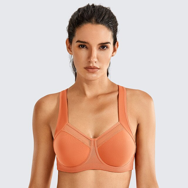 Soutien-gorge Sport Fort Maintien orange