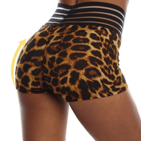 Short moulant leopard taille haute - passionduleggings