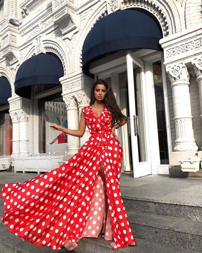 The polka dot dress was first introduced into modern fashion by Yves Saint Lauren