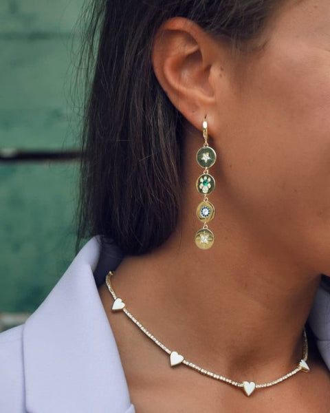 Oblong earrings - accentuate a graceful neck