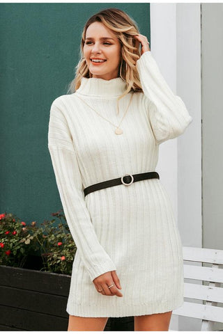 Elegant Knitted Sweater Dress