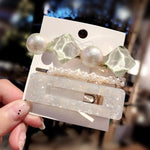 Load image into Gallery viewer, 3PCS/Set Acrylic Hair Clips Hair Clip Hopikas S-2 White Green