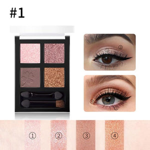 4 colors Glitter Eyeshadow Palette Hopikas 1