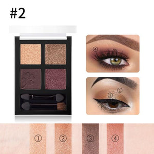 4 colors Glitter Eyeshadow Palette Hopikas 2