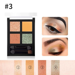 4 colors Glitter Eyeshadow Palette Hopikas 3
