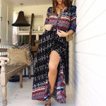 Load image into Gallery viewer, Bohemian Maxi Dress Hopikas