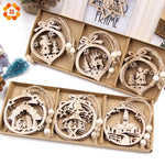 Load image into Gallery viewer, Box Vintage Hollow Christmas Wooden Pendants Hopikas