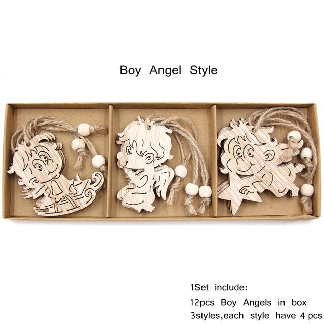 Box Vintage Hollow Christmas Wooden Pendants Hopikas Box-Boy Angle Style