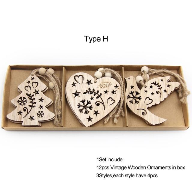 Box Vintage Hollow Christmas Wooden Pendants Hopikas Box-Type H