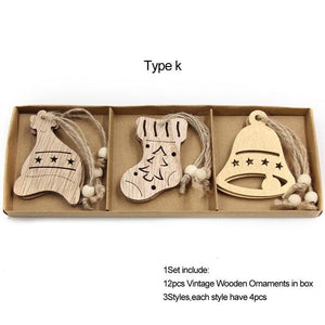 Box Vintage Hollow Christmas Wooden Pendants Hopikas Box-Type K