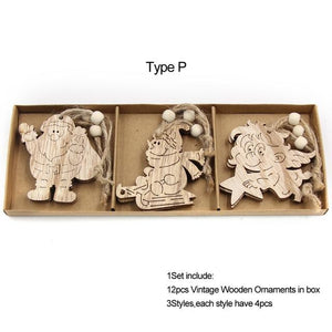 Box Vintage Hollow Christmas Wooden Pendants Hopikas Box-Type P