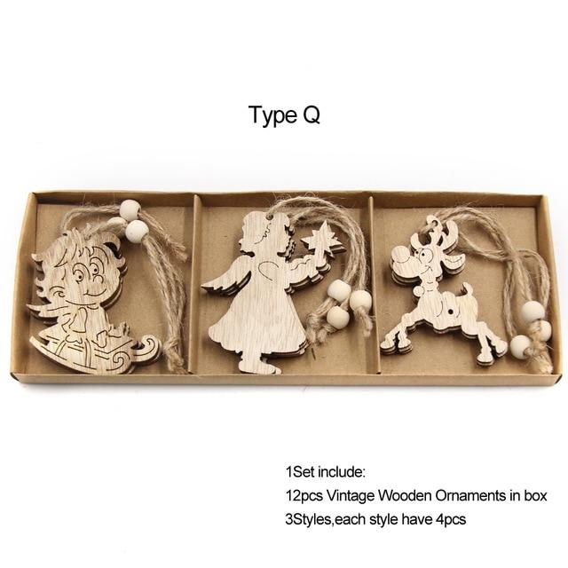 Box Vintage Hollow Christmas Wooden Pendants Hopikas Box-Type Q