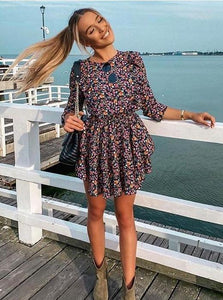 Casual Floral Dress Hopikas as picture S