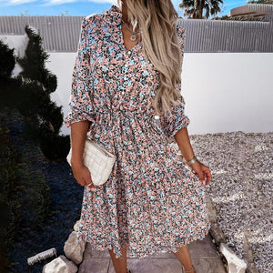 Casual High Waist Dress Hopikas