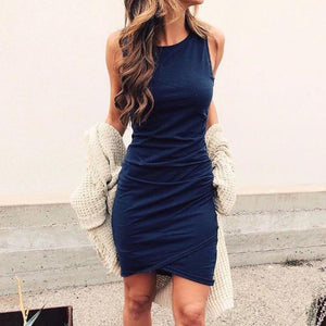 Casual Summer Dress Hopikas Navy Blue S