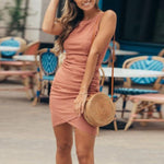 Casual Summer Dress Hopikas Peach S
