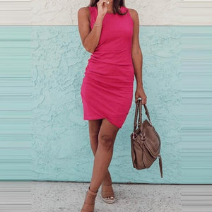 Casual Summer Dress Hopikas Pink S
